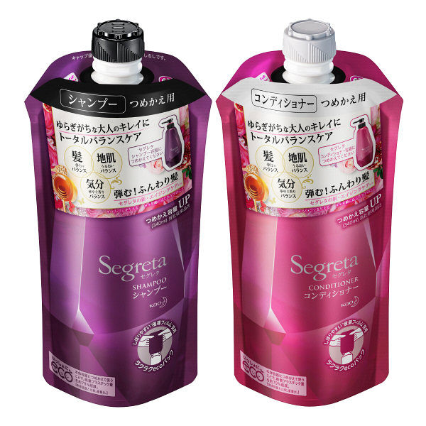 KAO Segreta shampoo, conditioner, hair care treatment